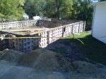 Foundation is set in place